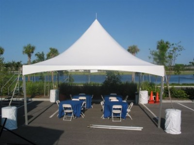 20 ft x 20 ft Cable Fame Tent image