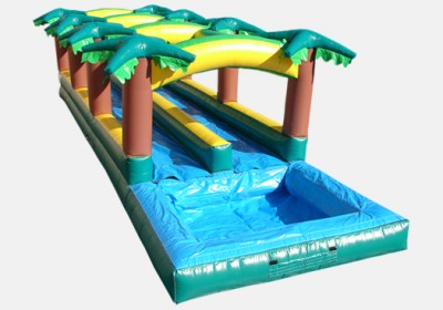 Hawaiian Double Slip & Slide with Pool image